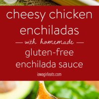Cheesy Chicken Enchiladas with Homemade Gluten-Free Enchilada Sauce