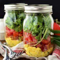 Make-Ahead BLT Egg Salad Jars