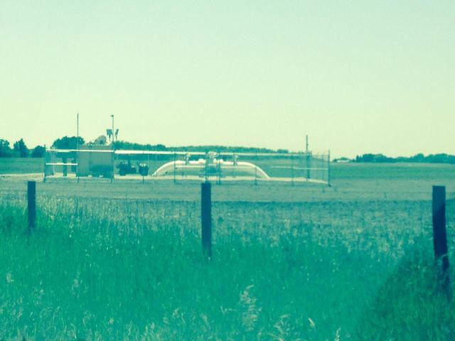 The Dakota Access pipeline valve on LaVerne Johnson's property. Photo courtesy of Carolyn Raffensperger