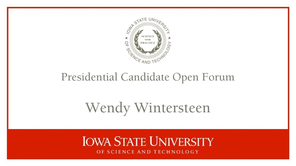 Wintersteen Dodges Agribiz Influence Question at Final ISU Presidential Search Forum
