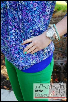 floral + green denim // LLinaBC.com