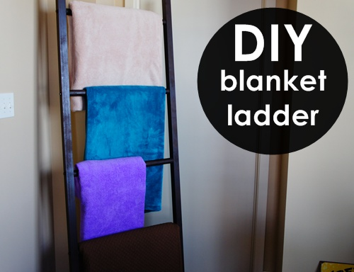 DIY blanket ladder // LLinaBC.com