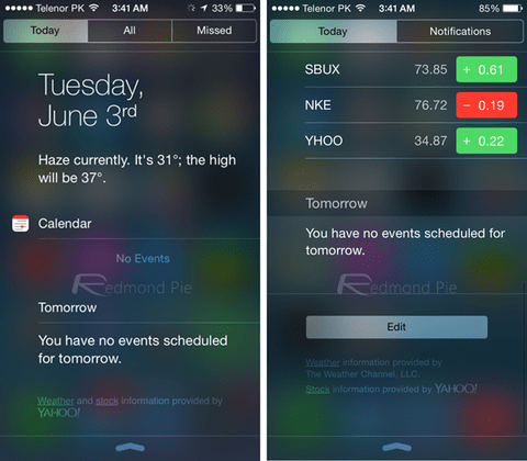 Today-view-NC iOS 8 vs iOS 7_result