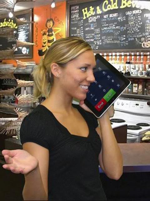 iPad absurdo 2 teléfono