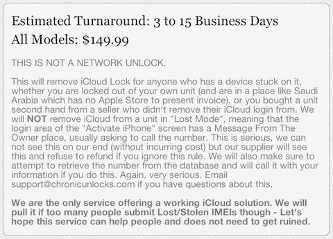 Desbloqueo iCloud Chrinc