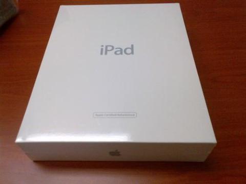 caja blanca iPad restaurado