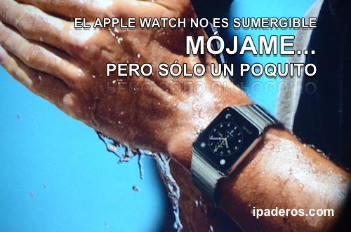 Apple Watch water resistant IPADEROS