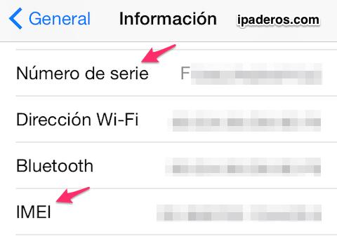 iPhone numero serie