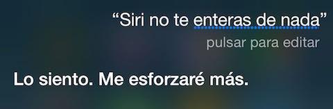 Siri no se entera de nada