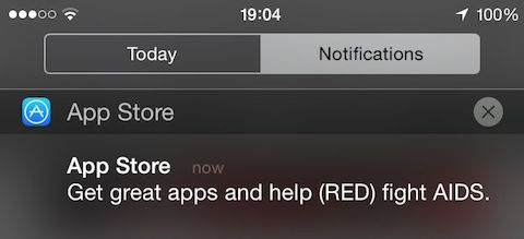 push notification Apple Store