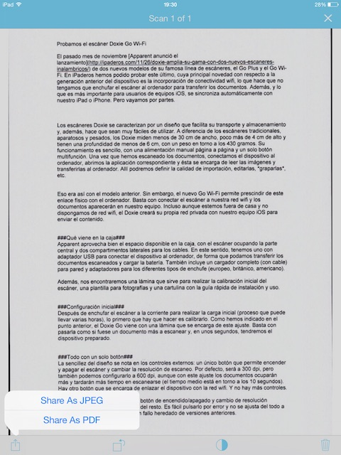 Documentos escaneado desde dispositivo móvil