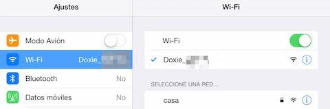 conexion wifi de dispositivo doxie