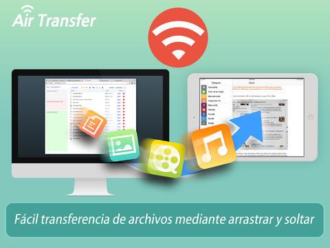 Air Transfer+ - Uso compartido de archivos:documento entre el PC y iPhone:iPad
