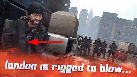 Arma pixelada en una captura de pantalla