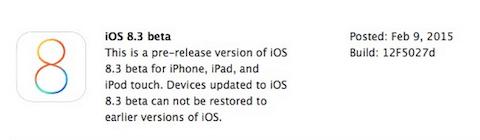 iOS 8.3 beta