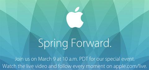 Keynote de Apple: Spring Forward