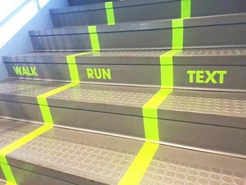 escalera text