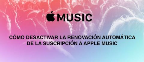 cómo cancelar renovacion apple music