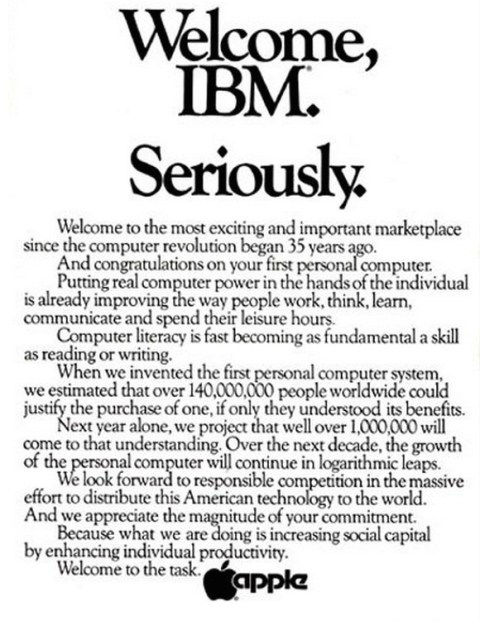 anuncio apple ibm