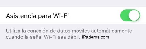 asistencia wifi iOS 9 2