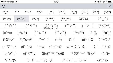 Teclado emotionos iOS oculto 1