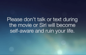 Alamo Drafthouse warns iPhone users before the worst happens