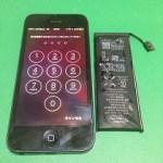 【修理実績No.72】iPhone5のバッテリー交換