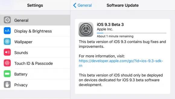 iOS9.3beta3