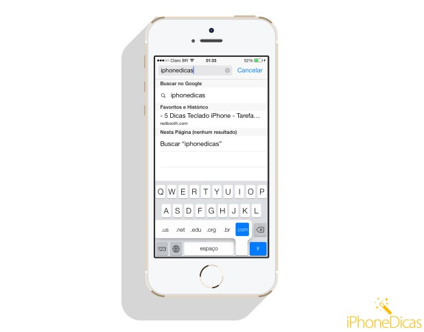 digitando melhor safari teclado iphone
