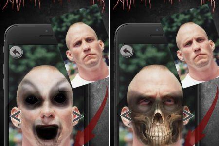 effrayant retouche photo horre iphone ipad