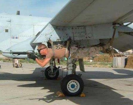 Meanwhile in Canada - guy attached to plane wing