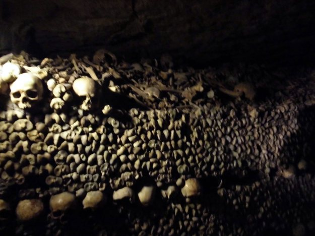 paris, france catacombs