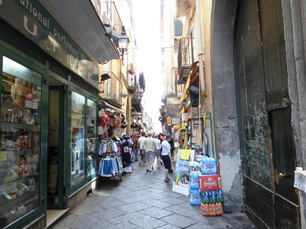 shopping alley, sorrento, italy