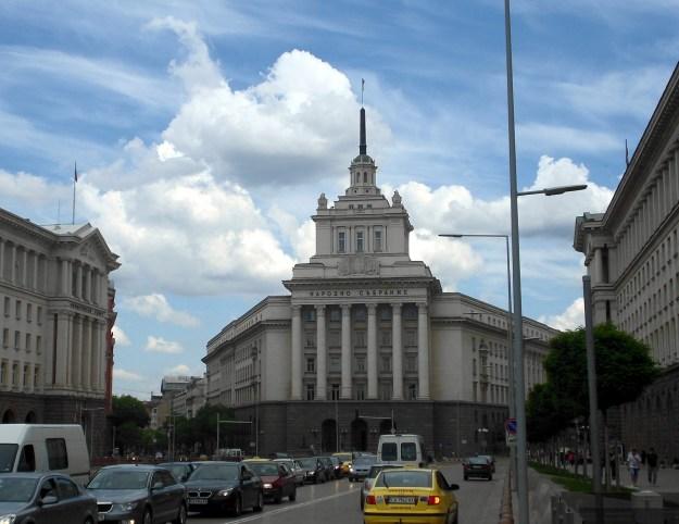 former communist party house, sofia, bulgaria