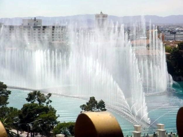 Bellagio Fountain View from Barbary Coast, Las Vegas, Nevada