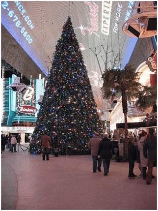 Fremont Street Christmas tree