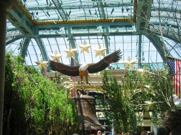Bellagio conservatory Las Vegas July 4 display