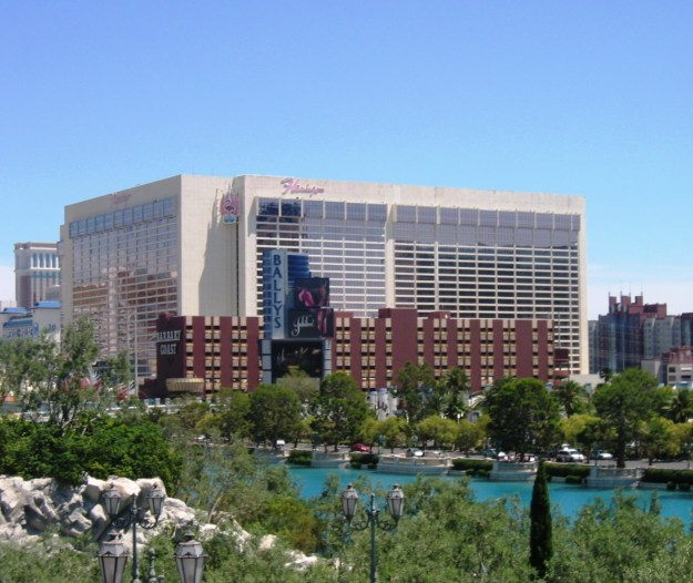 Flamingo and Barbary Coast Las Vegas view from Bellagio