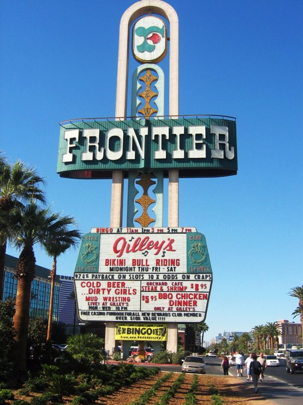 Frontier sign Las Vegas