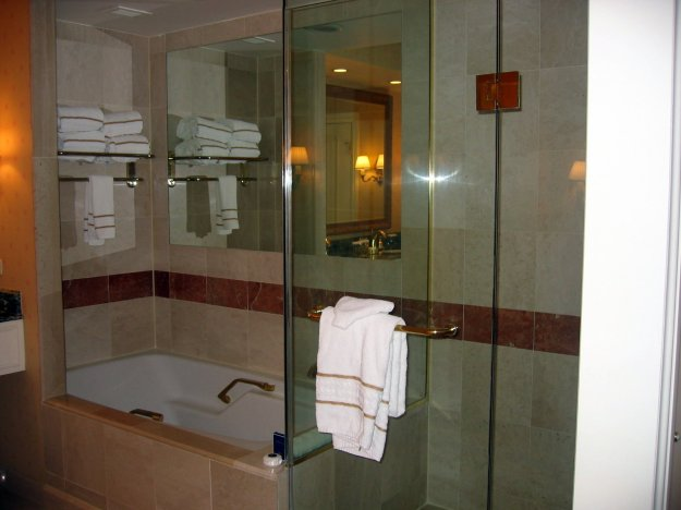 Venetian Rialto Suite Tub and Shower Las Vegas