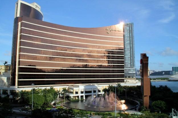 Hotel Lisboa Macau room view of Wynn Fountains China