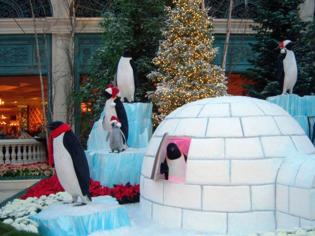 Bellagio conservatory Christmas igloo Las Vegas Nevada
