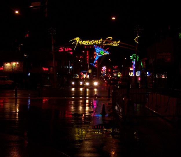 Fremont Street East rain
