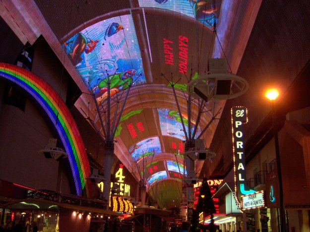 Fremont Street Experience Happy Holidays Las Vegas