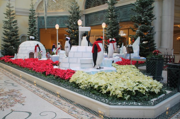 Bellagio Las Vegas Christmas conservatory penguins
