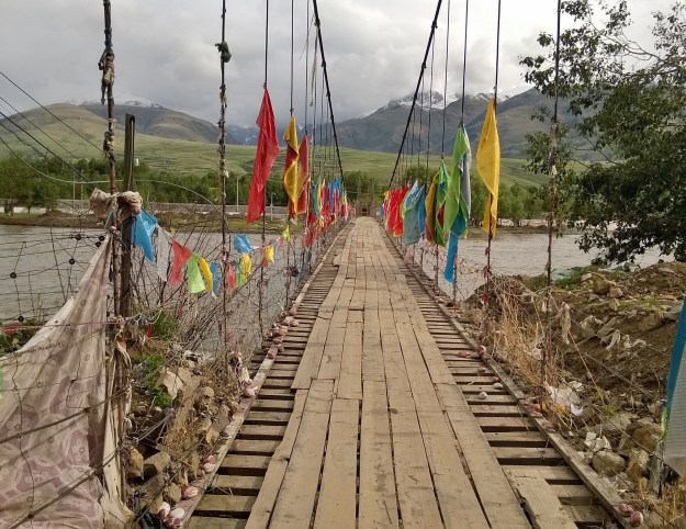 suspension bridge ganzi tibet china