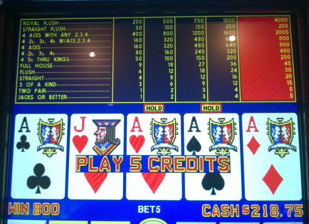 quarter aces video poker win orleans