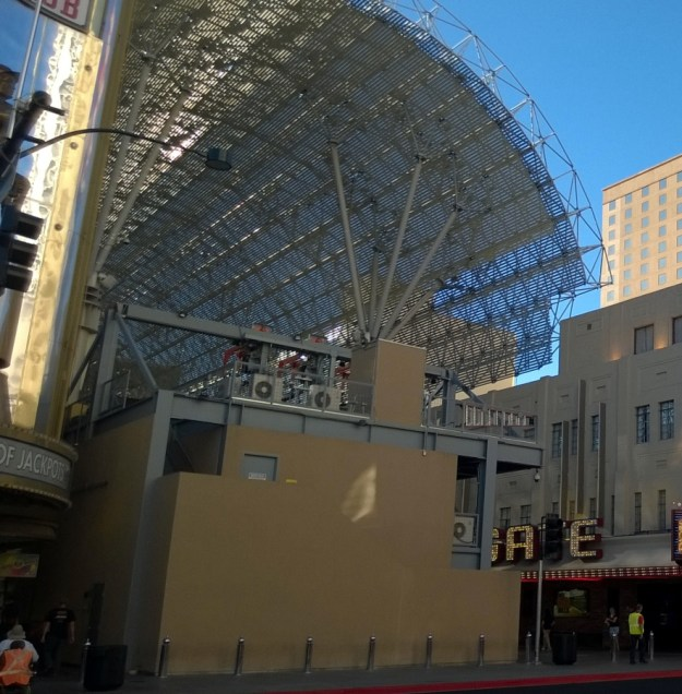 view of back of Slotzilla Fremont Street Las Vegas