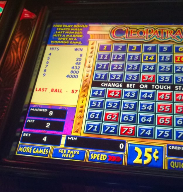 cleopatra keno pay table rainbow casino henderson las vegas