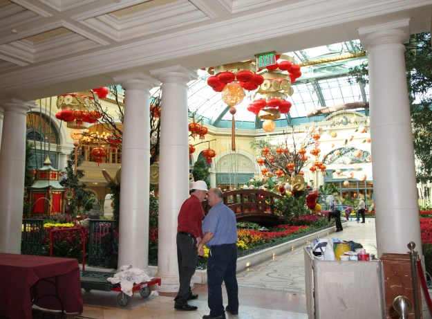 bellagio conservatory las vegas construction